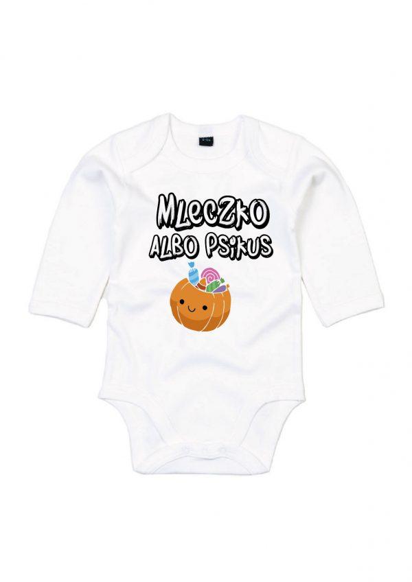 Body niemowlęce na halloween z dynią mleczko albo psikus