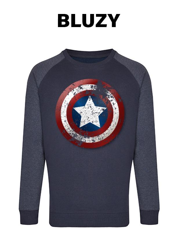 bluza z nadrukiem kapitan ameryka