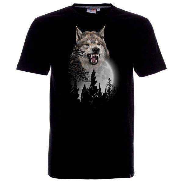 Koszulka z groźnym wilkiem