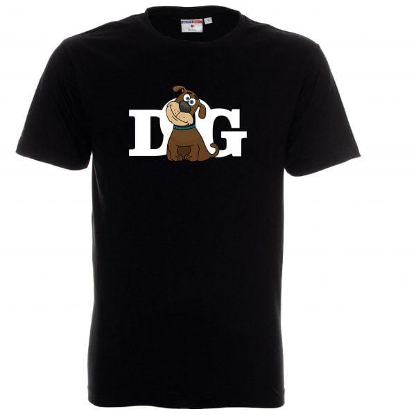 Koszulka czarna męska dog