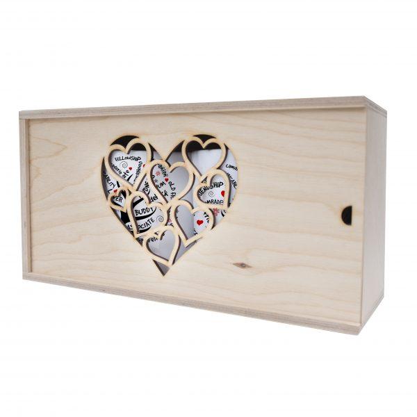 Pudełko drewniane dla Przyjaciół