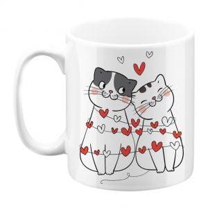 kubek kochających się kotów