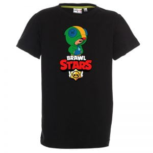 Koszulka czarna dziecięca Brawl Stars Leon