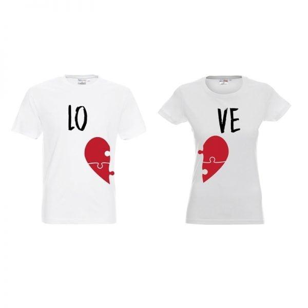 Koszulki dla par z napisem LOVE