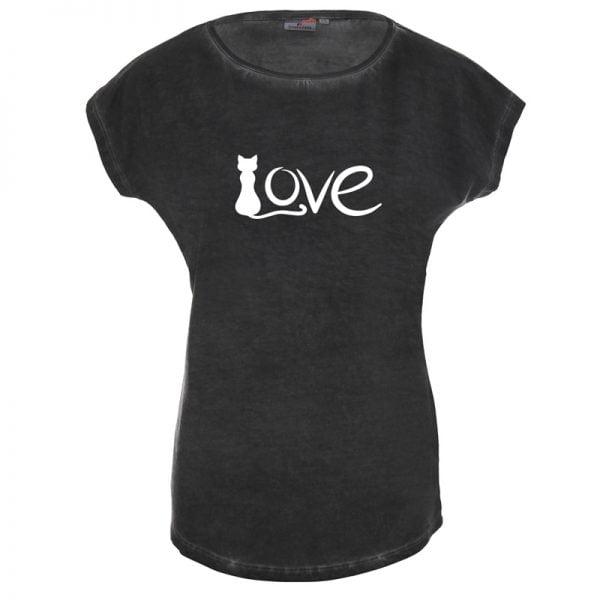 Koszulka z kotem Love