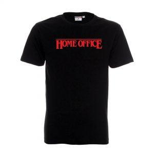 czarna koszulka z napisem home office