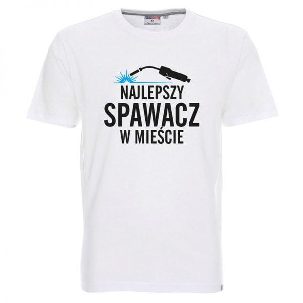 Biała koszulka dla najlepszego spawacza w mieście