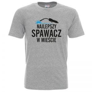 Szara koszulka dla najlepszego spawacza w mieście
