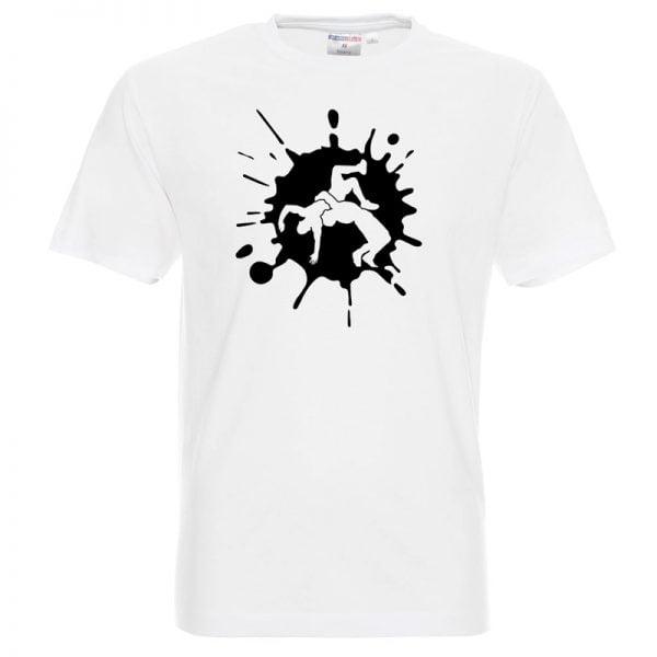 Koszulka Wrestling biała zapasy