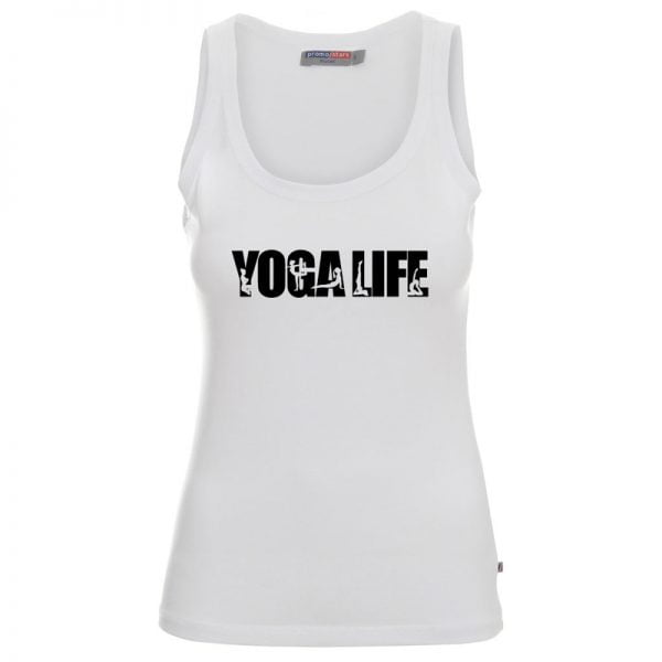 Biała koszulka na ramiączkach yogalife