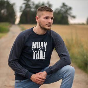 Granatowa bluza boks muay