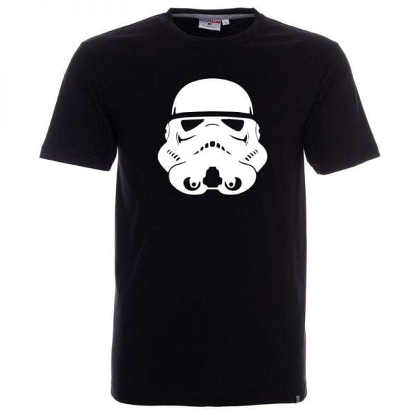 Czarna męska koszulka z białym szturmowcem