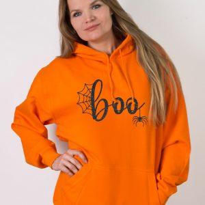 Bluza pomarańczowa Boo na halloween