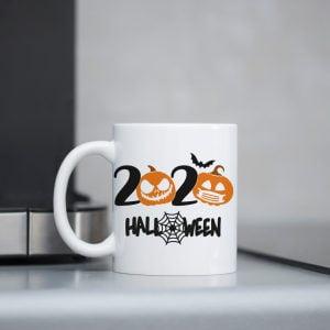 Kubek z dyniami 2020 na halloween