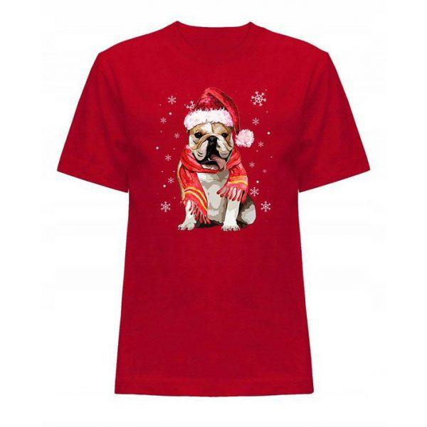Koszulka świąteczna buldog angielski