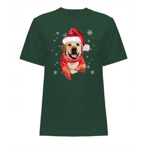 Świąteczna koszulka z labradorem